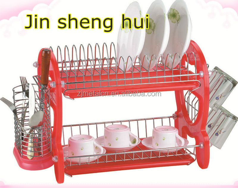 chinese supplier wholesale Chrome-plated Kitchen Knife Spice Utensil Dish Rack