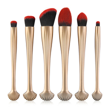 Wholesale Custom Logo Shell Shape Nylon Hair Makeup Brush