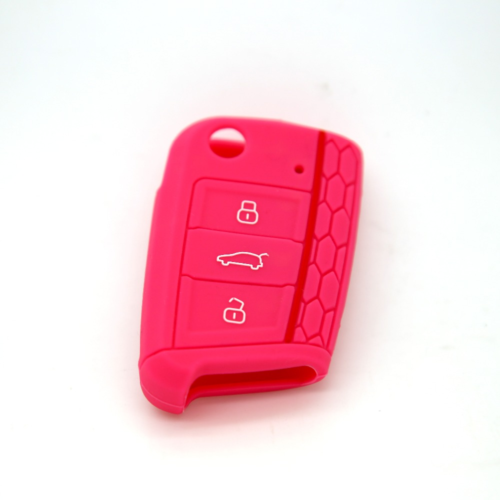 VW Golf7 remote key case silicone / rubber key cover/plastic key case