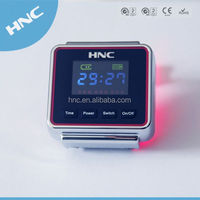 2014 new invention product Diabetes portable equipment Wrist Type LLLT Ischemic apparatus Laser watch