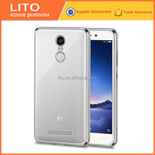 Luxury Electroplate Soft TPU Transparent Case For Xiaomi Redmi Note 3 Back Cover