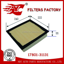Car Air cleaner/Japanese Auto parts filter/Toyota Air filter used for Lexus ES350/Toyota Camry/Highlander 17801-31131