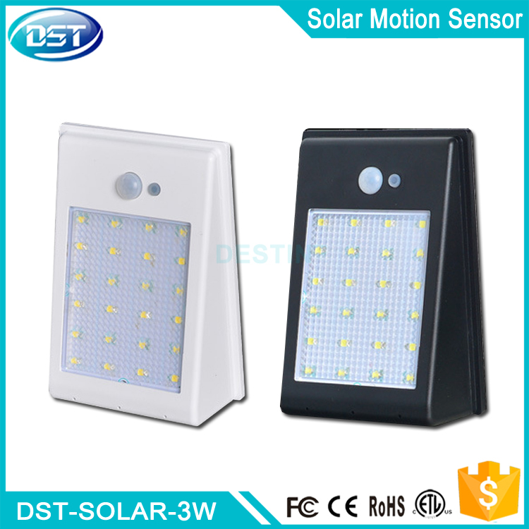 Multifunctional 2 led solar power motion sensor lamp made in China