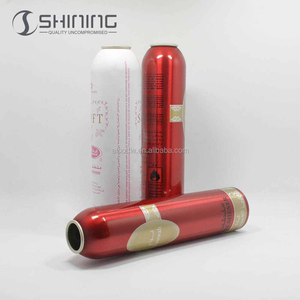 empty round 100ml250ml aluminum spray aerosol packaging can