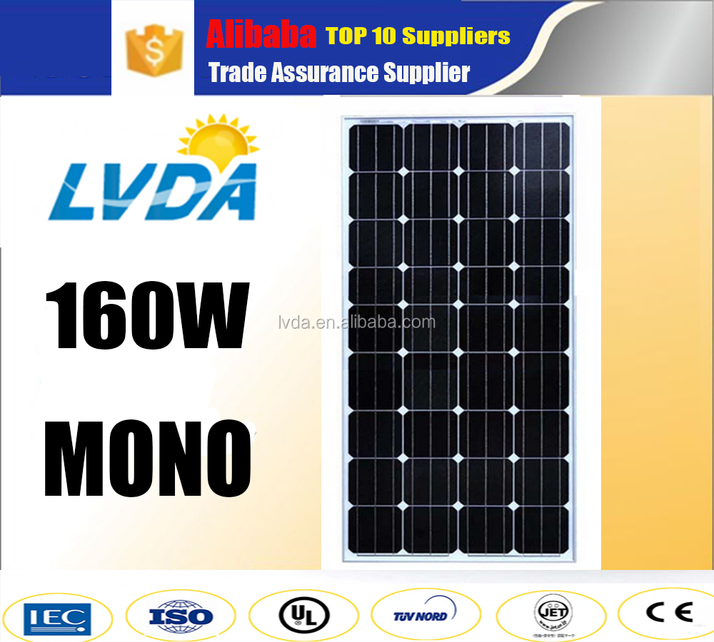 Germany technology guaranteen quality Monocrystalline Silicon mono solar panel 160w 36 cells for japan market