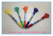 Advertising tool banner pen with plastic hands top