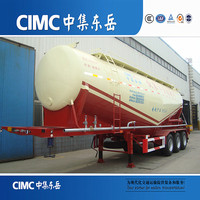 Big loading capacity used bulk cement trailers with diesel engine pump for Congo