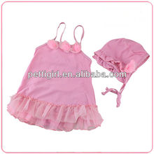 Fashion New Girls Cute Bikinis Flower Korea Style Pink Baby Kids Swimwear For Children Hot Spring Bath SR40416-4