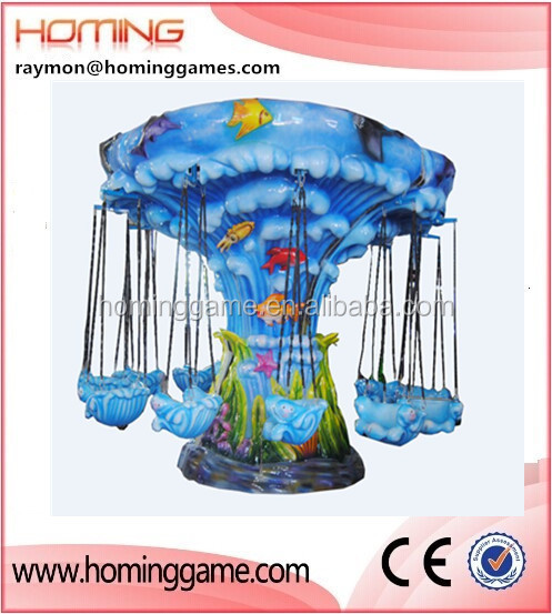 The wave flying chair/kids rides flying chair/amusement ride LED light 12 seats flying chair