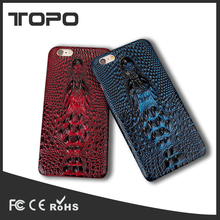 New Arrivals Luxury Crocodile Pattern Leather Back Case Soft tpu for iphone 6s 360 phone cover
