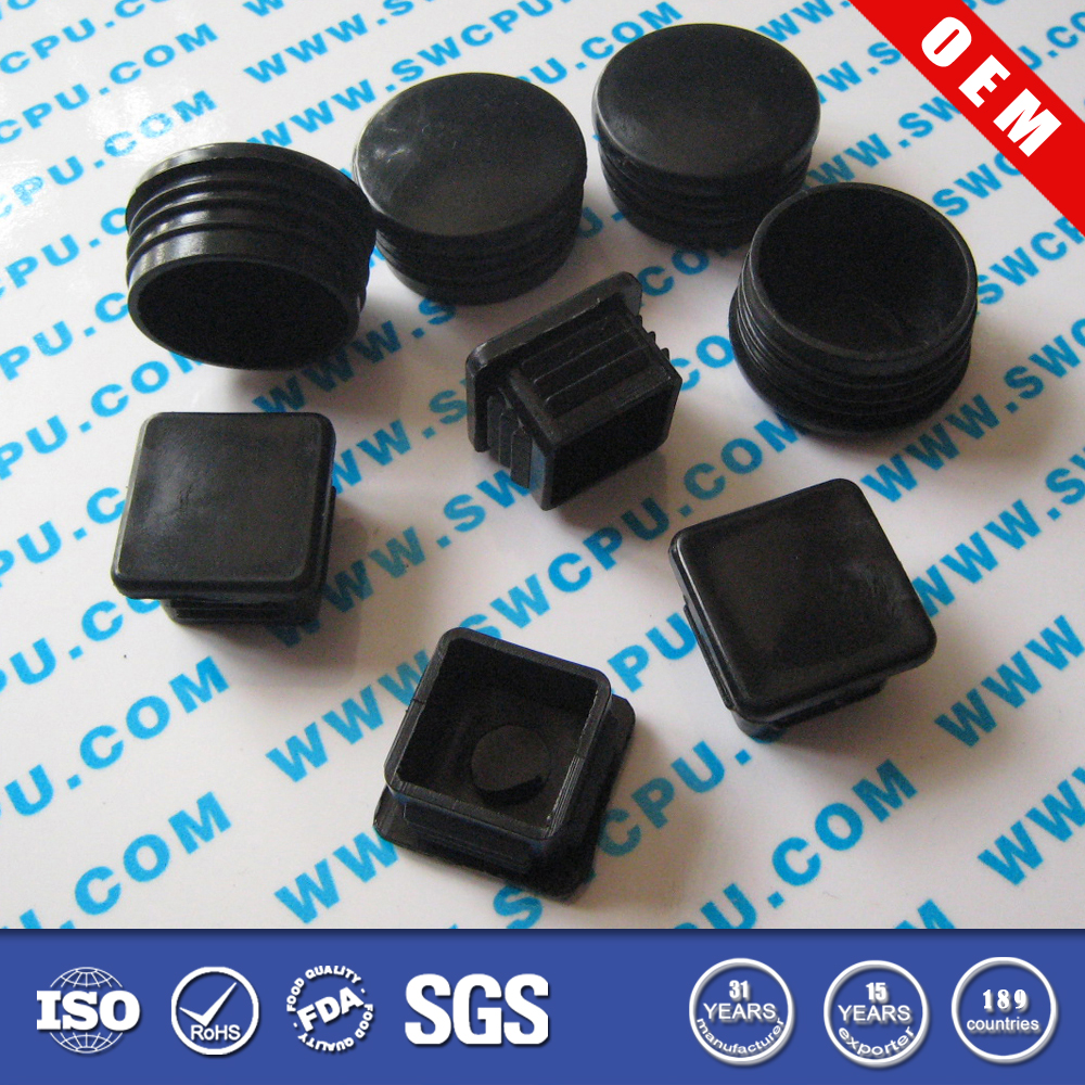 Customzied plastic cap and plugs for steel tubing
