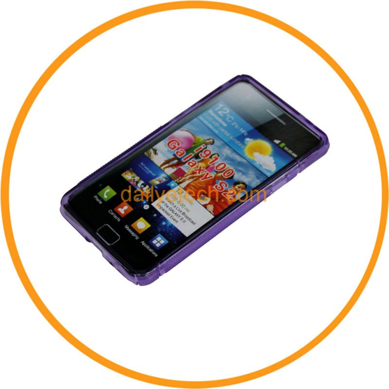 Purple Soft TPU Hybrid Gel Cover Case for Samsung Galaxy S2 I9100 from dailyetech