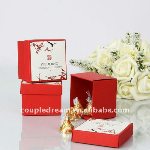 Chinese Style Double Happiness Wedding Favor Box
