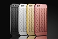 Bumper Frame + Grid Pattern PC Mobile Phone Cover Case For Apple iPhone 5/6S/6S Plus