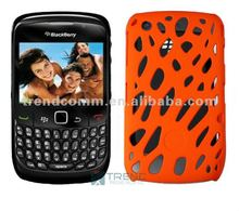 Meshed Patterned Rubber PC Case for BlackBerry 8520