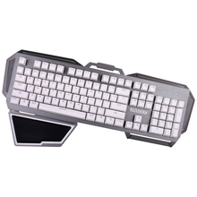 Kitcrazy 104 Keys USB Wired Professional Gaming Keyboard with Tactile Anti-ghosting Keyboard with Blue Switches RGB LED