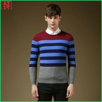 New arrival round neck black mens latest sweater design