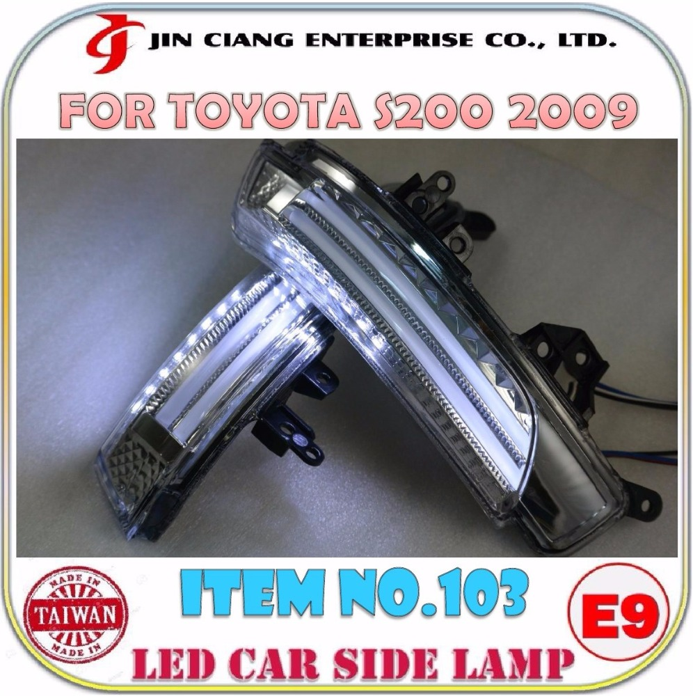 Automobile parts Mirror Cover FOR TOYOTA CROWN MAJESTA LED SIDE LAMP