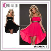 2015Fachion european style hot selling irregular dress