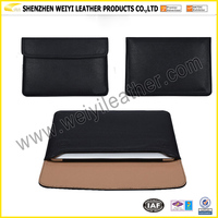 Black PU Leather Magnetic Closure Design Slim Case Sleeve For Macbook Air 13