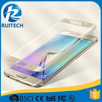 high quality premium Full curved Tempered Glass Screen for Samsung Galaxy S6 Edge 0.3mm glass