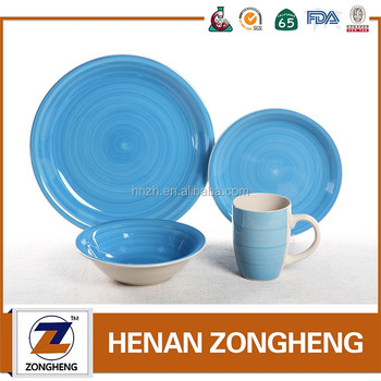 Wholesale 16pcs Hand Painted Ceramics Dinner Sets