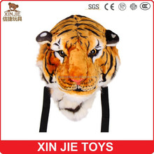 customize plush tiger bag soft tiger backpack hot plush animal backpack