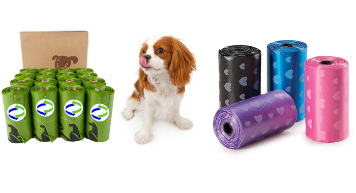 Dog Poop Bag on Roll in a Colorful Box