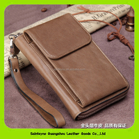 16211 Mens Multifunction Leather Case Cover Zipper Wallet Card For iPhone 6 Plus