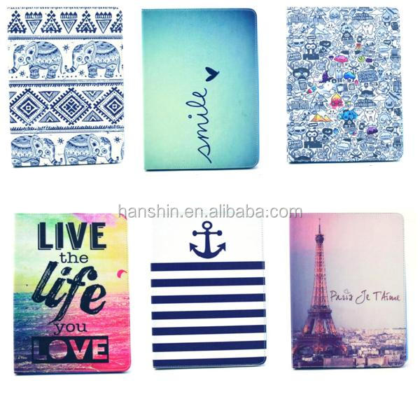 PU Leather Flip Mobile Phone Case Colorful Painted Insertcard Tablet Case For Ipad Mini 4