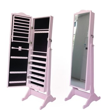modern wood standing mirror jewelry armoire