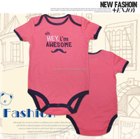 2015 new born organic 1 year old baby clothes baby rompers