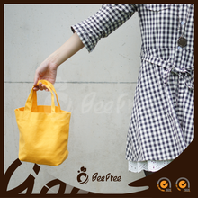 Top Quality Colorful Wholesale Handmade Yellow Tote Custom Cotton Small Canvas Brand Bag