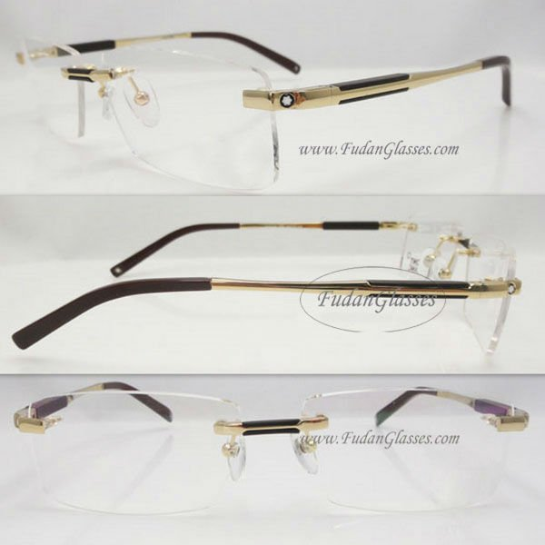Rimless eyeglass frame 2011 latest optical eyeglass frames Optical eyeglass frame MB0349 Gold Brand eye glasses Wholesale