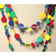 Party decoration paper garland paper mother's day decoration