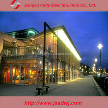 visible aluminum frame glass curtain wall