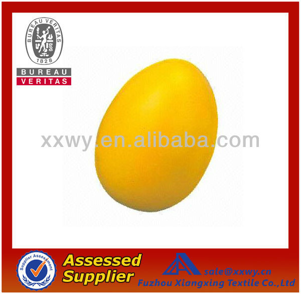 2014 Best Quality Promotional Top Quality PU Egg Shaped Stress Balls