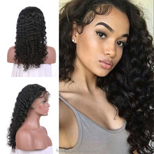 Factory price virgin brazilian hair deep curly u part wigs 100% unprocessed pre plucked human hair wigs