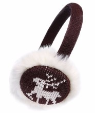 cheap winter wholesale custom jacquard Christmas knit saleable earmuffs