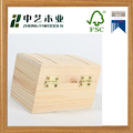 Wholesales handmade rectangular unfinished pine mini cheap wooden gift box