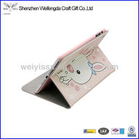 2013 Hot Selling Cute Little Rabbit Pattern PU Leather Stand Case Cover For Ipad Mini
