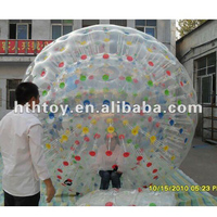 Climb Inside Riding football giant inflatable hamster ball