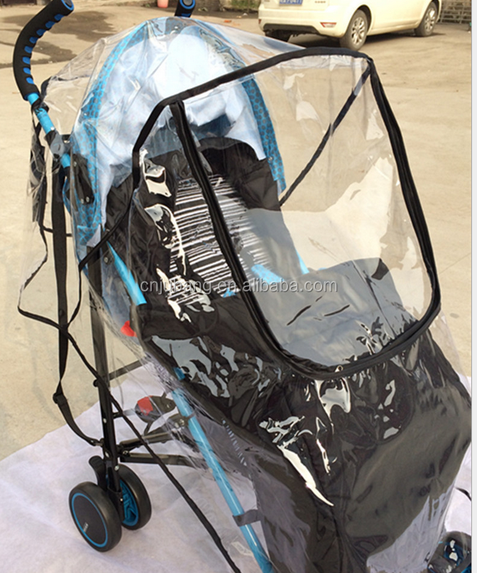 outdoor baby stroller rain cover / Waterproof PVC Baby Carriages cover / baby stroller rain cover