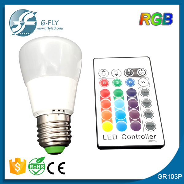 made in China good quality 3 watt rgb plastic led bulb