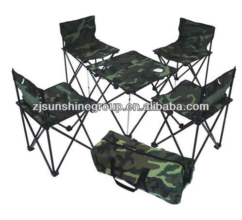 Folding compact table and chairs set