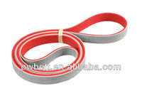 3mm width size P3 type red rubber coated last working time good quality steel truly endless pu transmission belt
