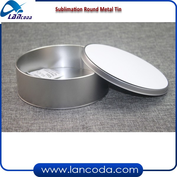 stainless steel Sublimation can Tin Metal Candy box with aluminum board/plate/sheet