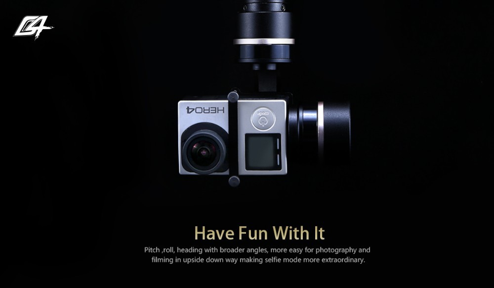 CNC Aluminum Alloy Material 3 axis Cameral Gimbal for Pocket Stabilizer Grip