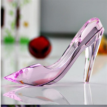 Pink crystal shoe figurine gifts for wedding girlfriend