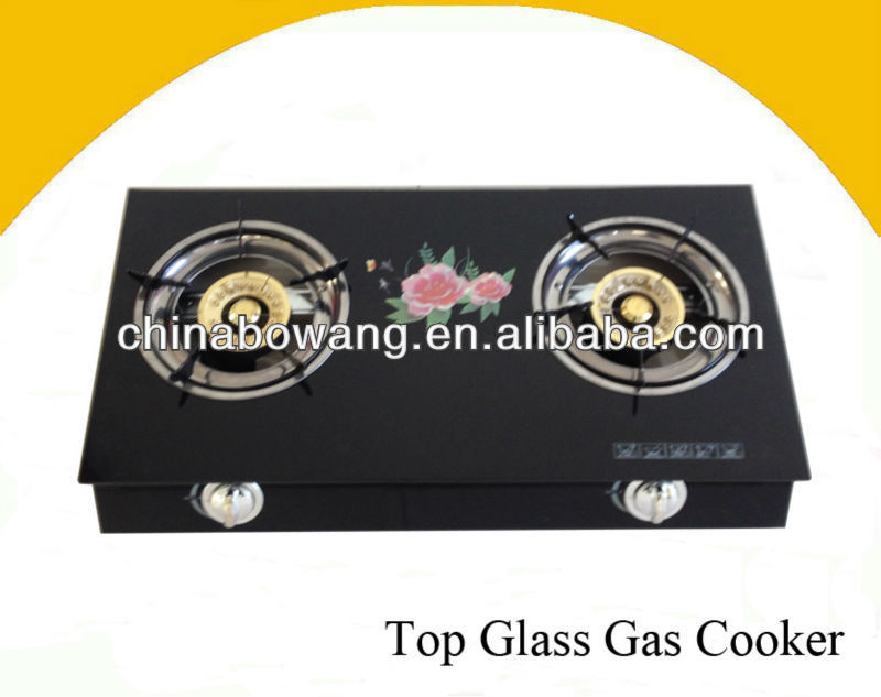 HOT SELLING BEST QUALITY Table 2 Burner Top Glass Gas Cooker(BW220-3)